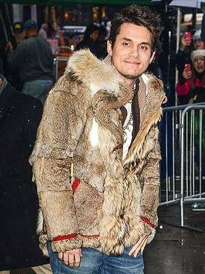 Empty Cages Worldwide's photo: John Mayer seen in NYC wearing this hideous fur ensemble made of coyotes and rabbits! Shame on you for being so heartless.