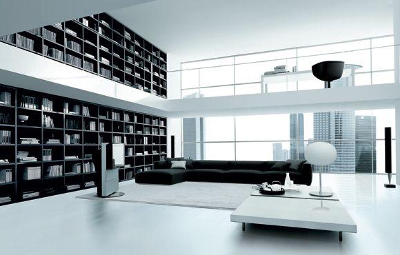 een modern interieur waarvan de muur een grote kast vormt om je