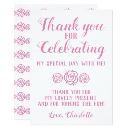 Princess Thank You Card Birthday Cards Invitations Party Diy
