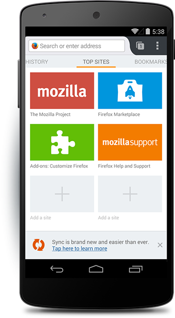 Firefox for Android — Mobile Web browser — More ways to
