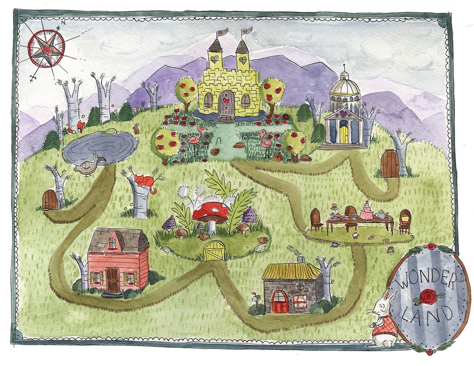 Alice In Wonderland Map Alice in Wonderland map | Fictional Maps | Pinterest | Wonderland  Alice In Wonderland Map