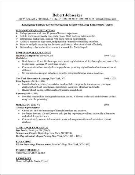sample resume skills example resumes cover letters interviews sample resumes skills - Example Of A Work Resume