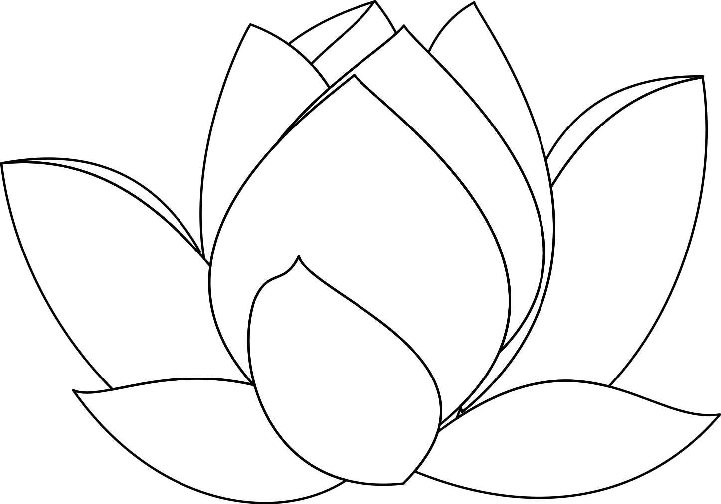 Image Result For Lotus Flower Line Drawing Lotus In 2018