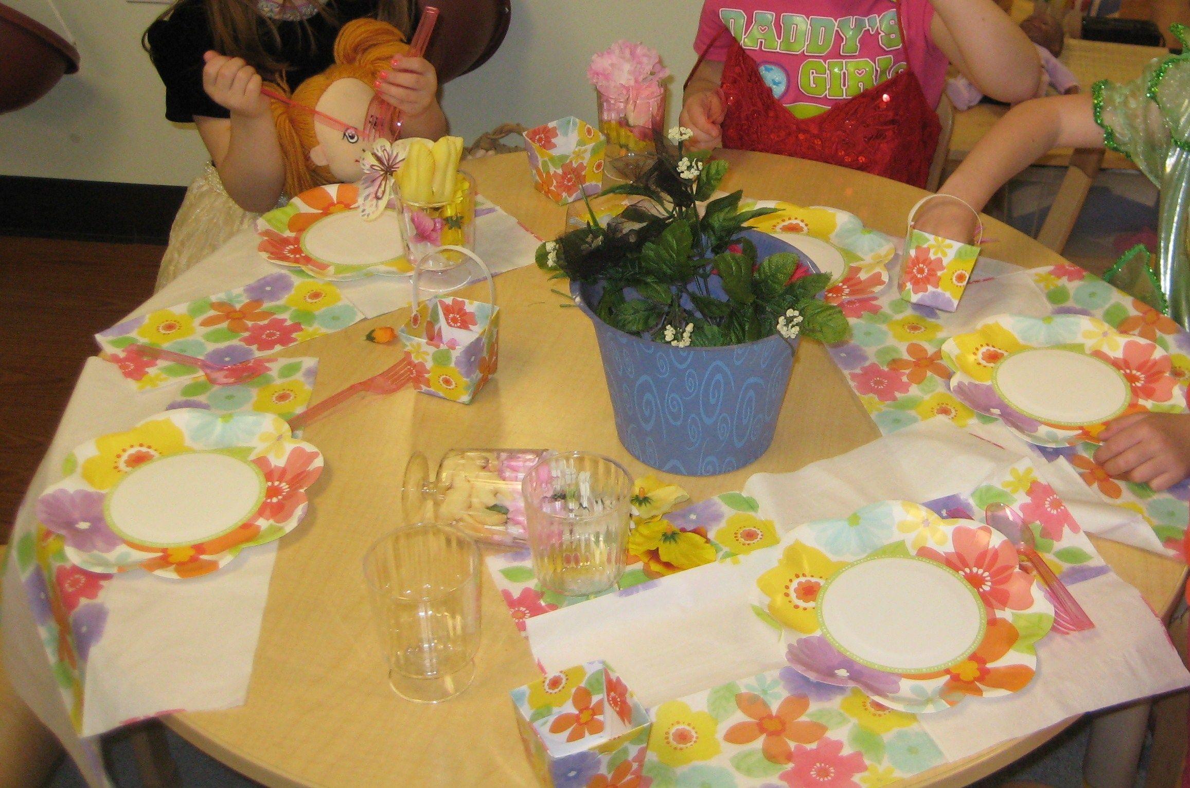 Garden tea party in the Dramatic Play Center