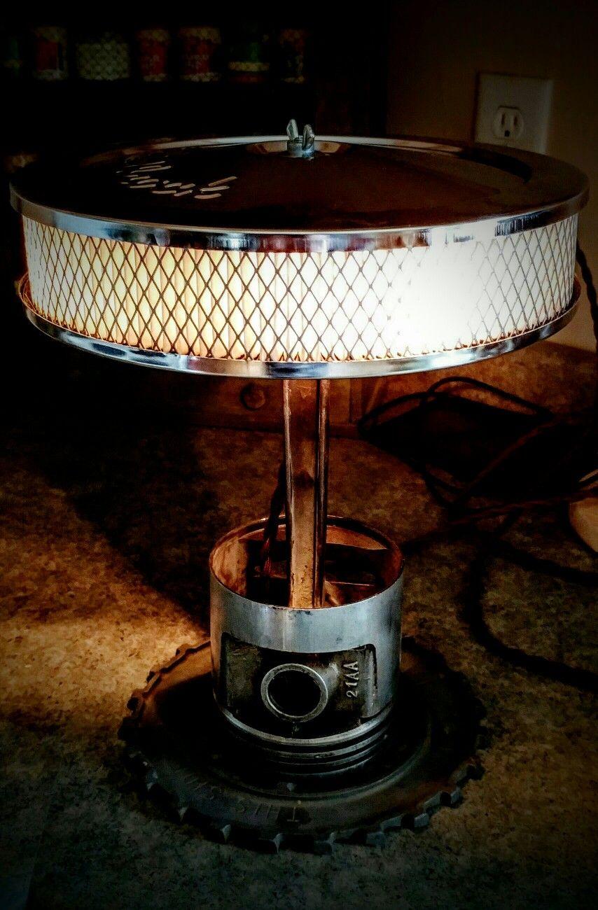 Chrome air filter, piston lamp lamps Pinterest Men