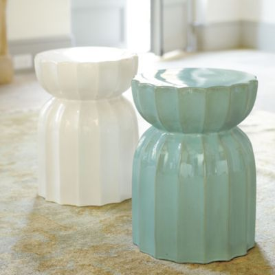 A Fun Take On The Garden Seat Also Makes A Great Side Table