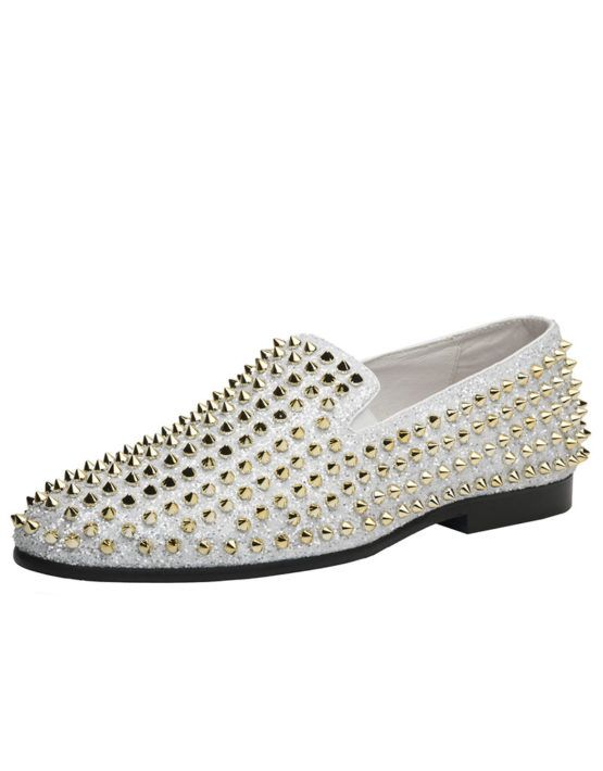 Gold loafers, Gold prom shoes, Prom shoes