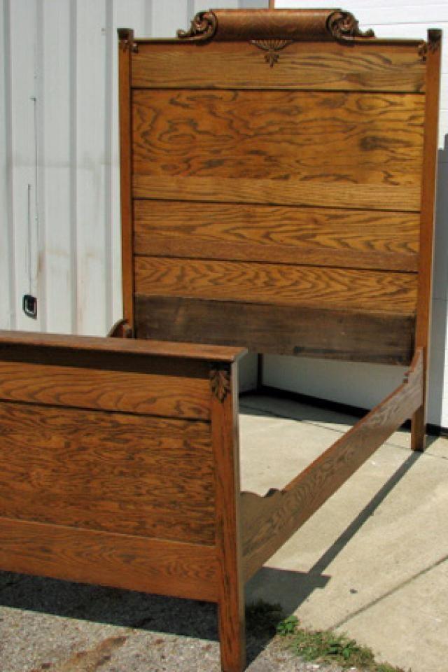 carved oak full size bed frame great carved oak full size bed frame with. Black Bedroom Furniture Sets. Home Design Ideas