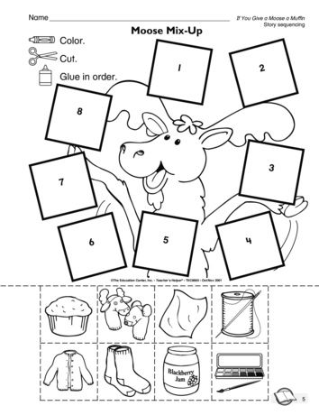 If You Give A Moose A Muffin Follow Up Worksheet Story Sequence