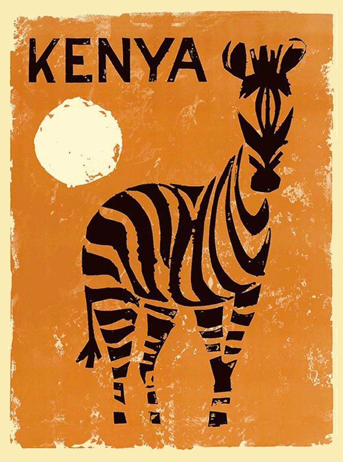 $7 99 - Kenya Zebra Africa Vintage African Travel