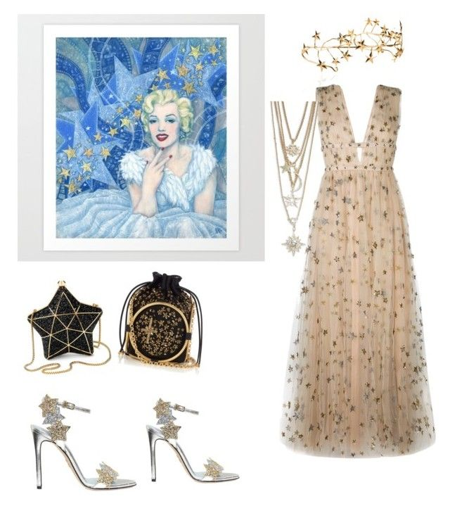 """""""Star Struck"""" by mamgouirk ❤ liked on Polyvore featuring Valentino, Chiara Ferragni, Aspinal of London, Alexander McQueen and R.J. Graziano"""