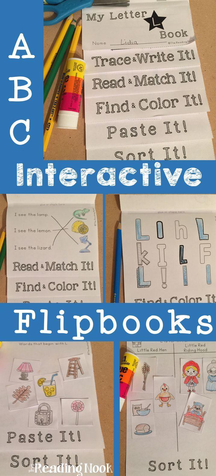 Interactive Alphabet Flip Books A-Z   Pinterest   Kindergarten ...