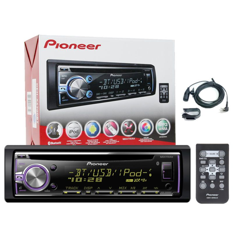 Pioneer DIN Bluetooth AM/FM USB AUX CD Player Car Stereo w/ Built-in ...