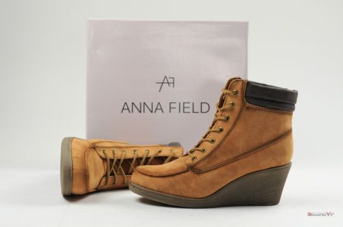 anna field wedge boots
