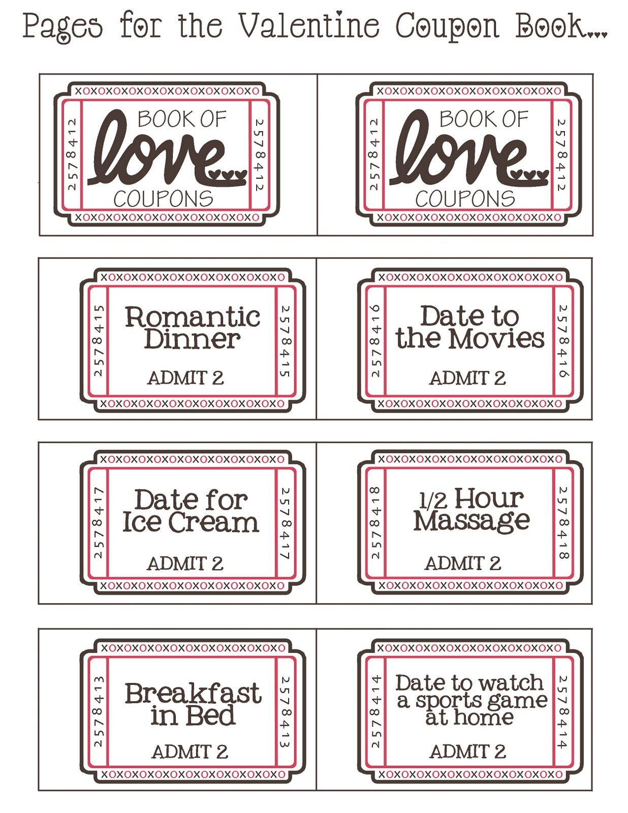 Mommy by day Crafter by night: {Free Printable} Valentine Coupon ...
