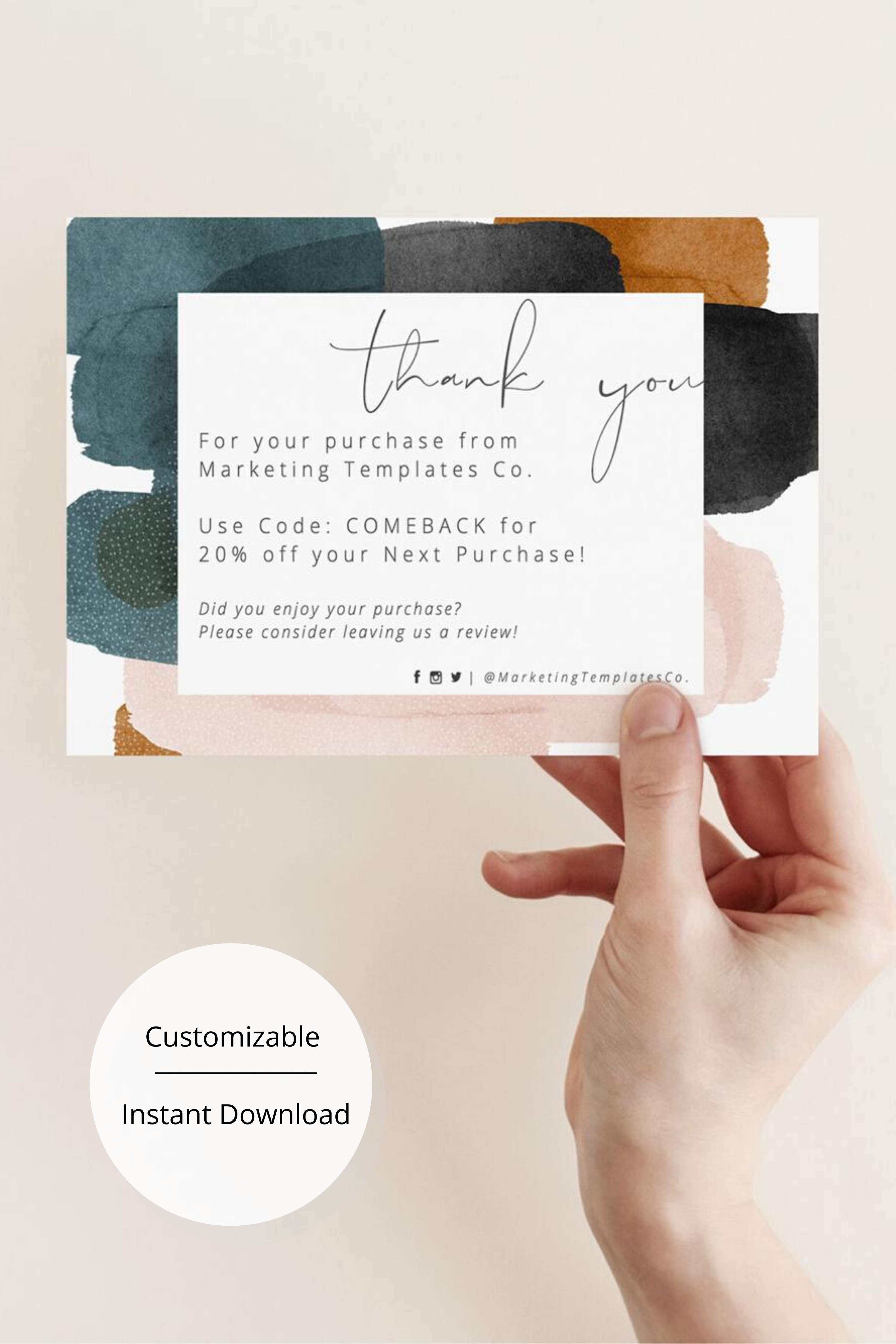 Thank You Card Inserts Business Thank You Cards Modern Business Thank You Inserts Small Business Cards Etsy Seller Insert Cards Business Thank You Cards Small Business Cards Thank You Cards