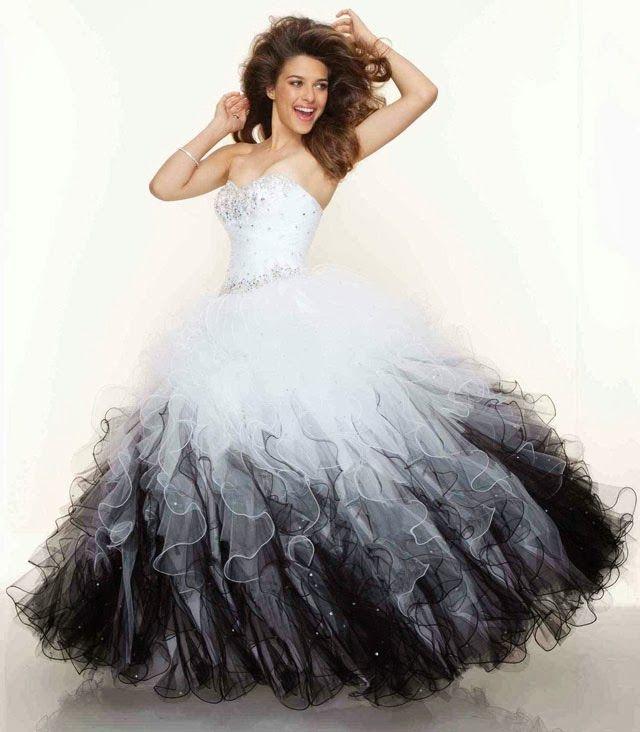 Strapless Prom Dress Black And White Mori Lee