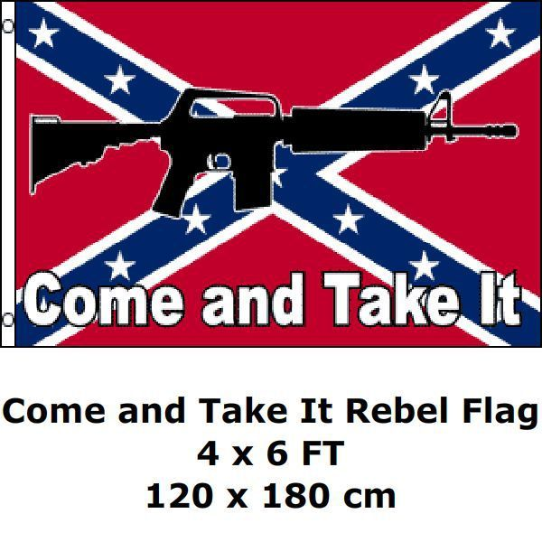 Come And Take It Rebel Flag Xft Poly Rebel Flags Promotion - Rebel flag truck decals   online purchasing