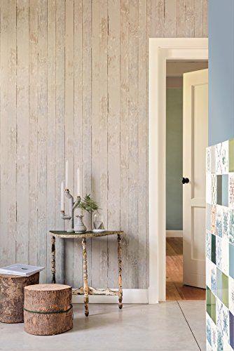 Vlies Tapete Antik Holz rustikal beige grau verwittert BN