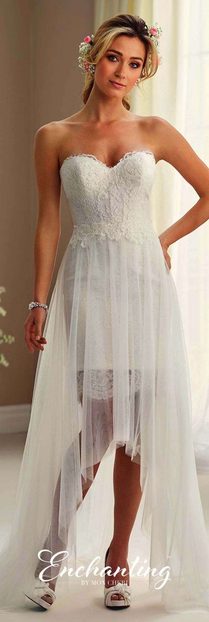 Boho lace strapless wedding dress lace mermaid wedding dress low