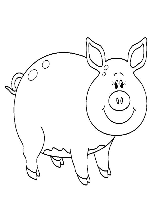 Pig Coloring Pages Free Printable