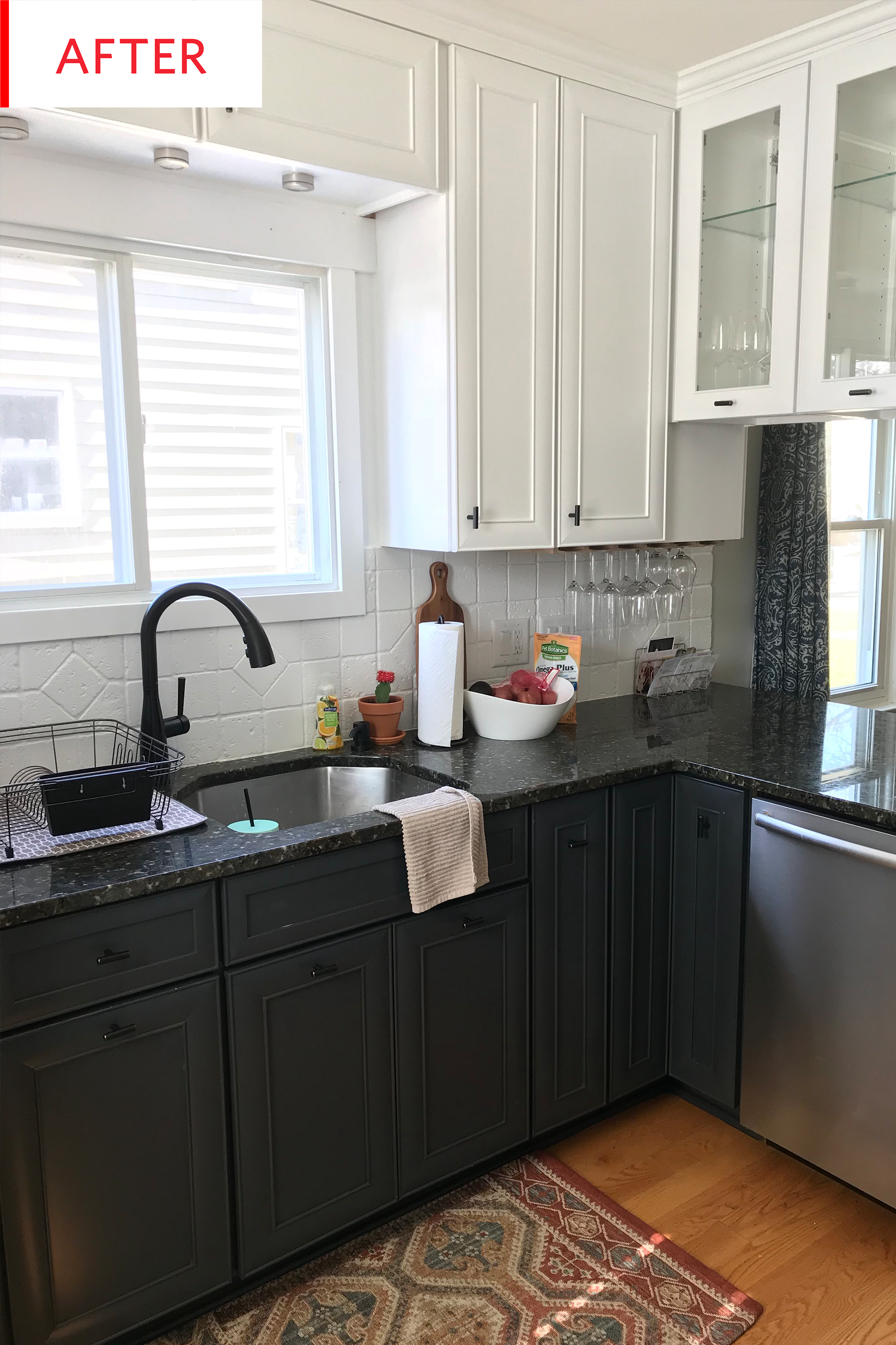 Kitchen Facelift Island Bar Before And After A Three Week 500 Design