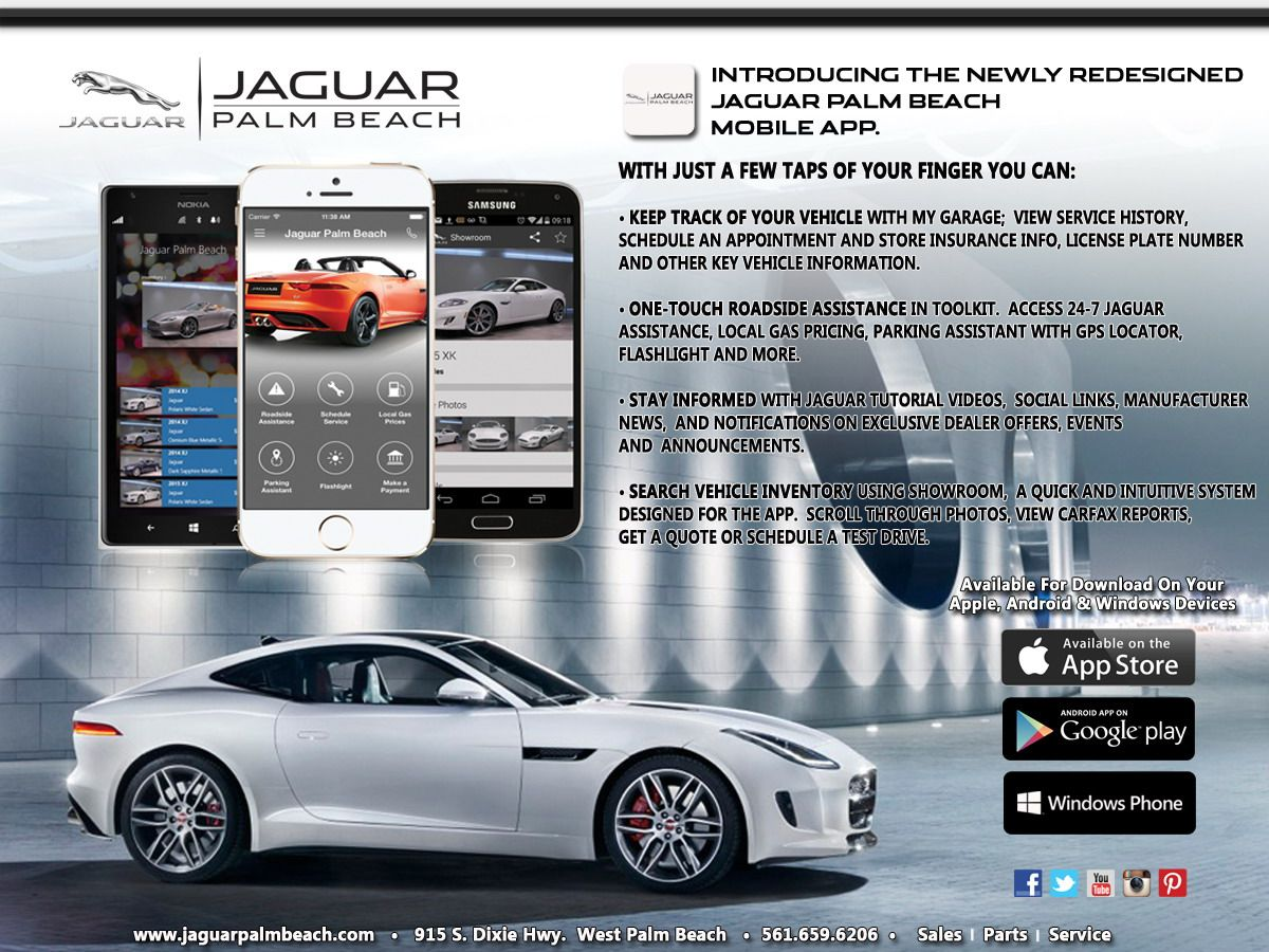 Jaguar Palm Beach Smartphone  Access Jaguar Palm Beach From Your Android,  Apple Iphone Or