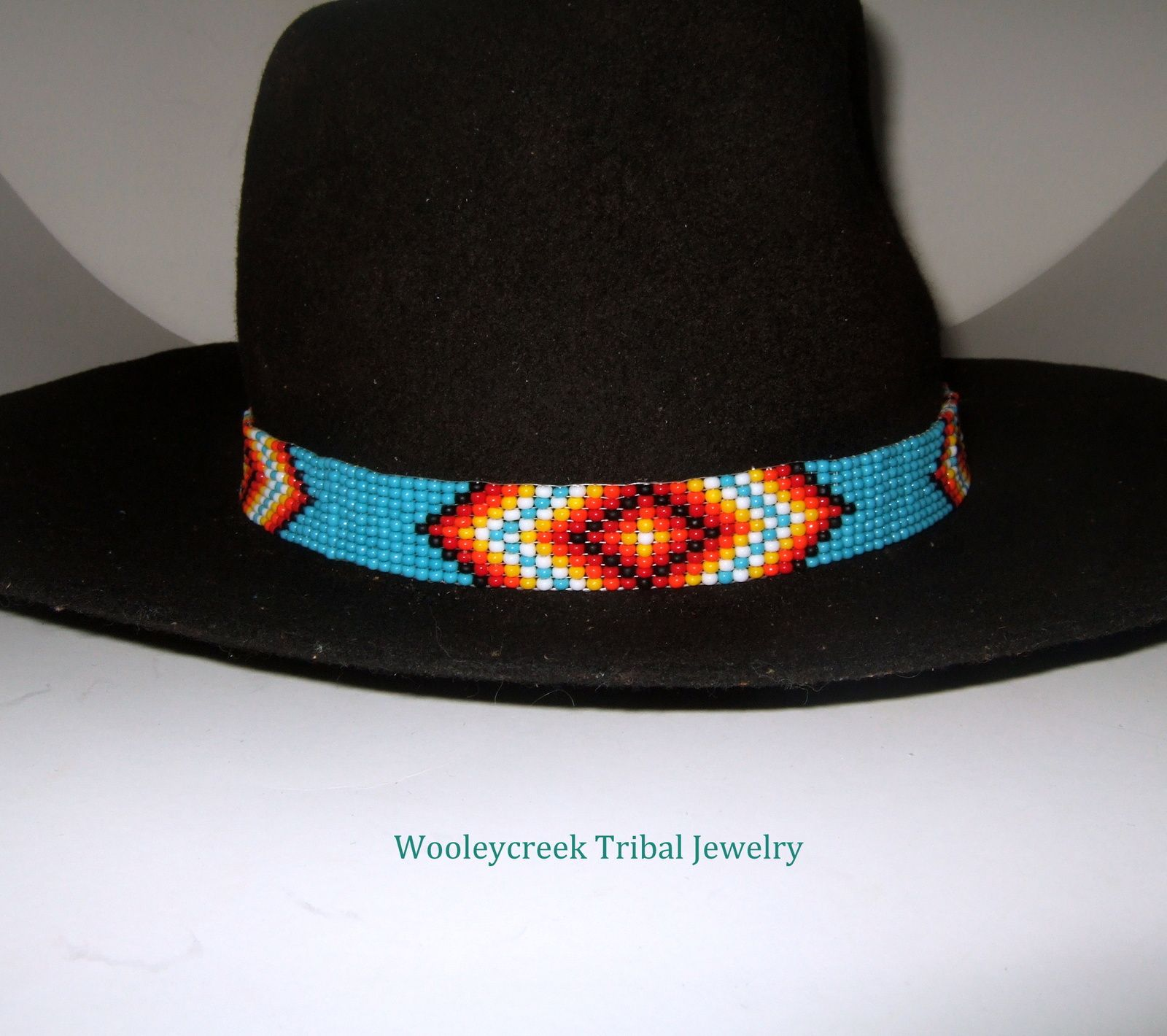 Beaded Hatband With Tribal Geometric Loom Work Motif Beaded Hat Bands Beaded Hatband Winter Hats For Men