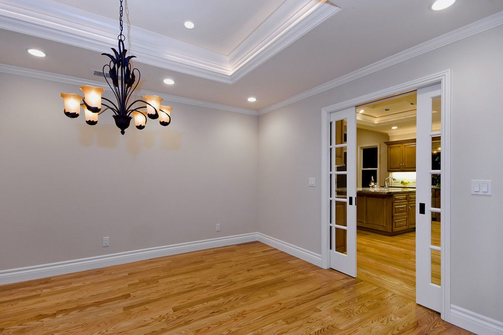 Interior Sliding French Doors Dining Room Traditional With Divide