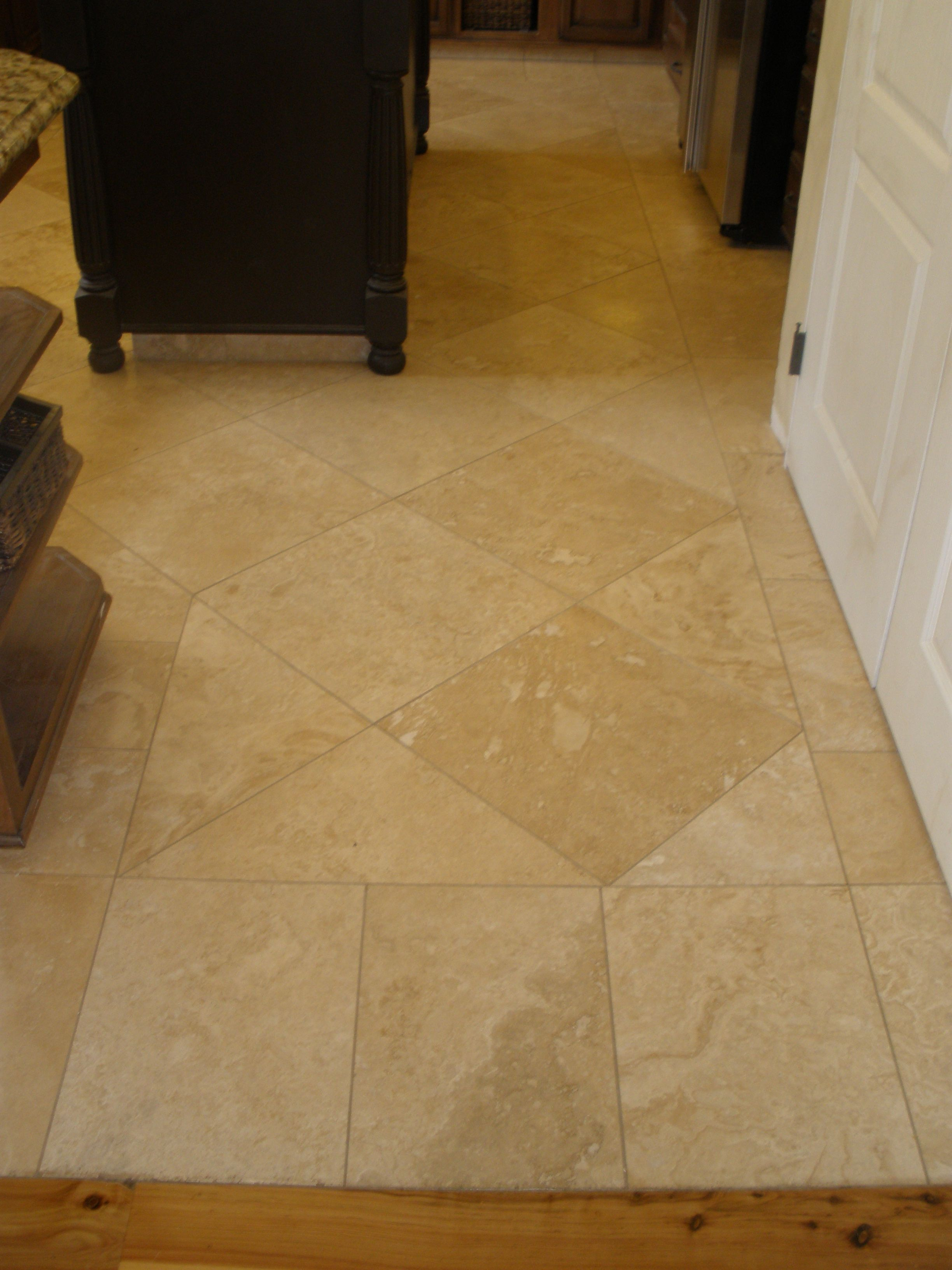 18 X18 Travertine Set With A 1 16 Grout Joint Http