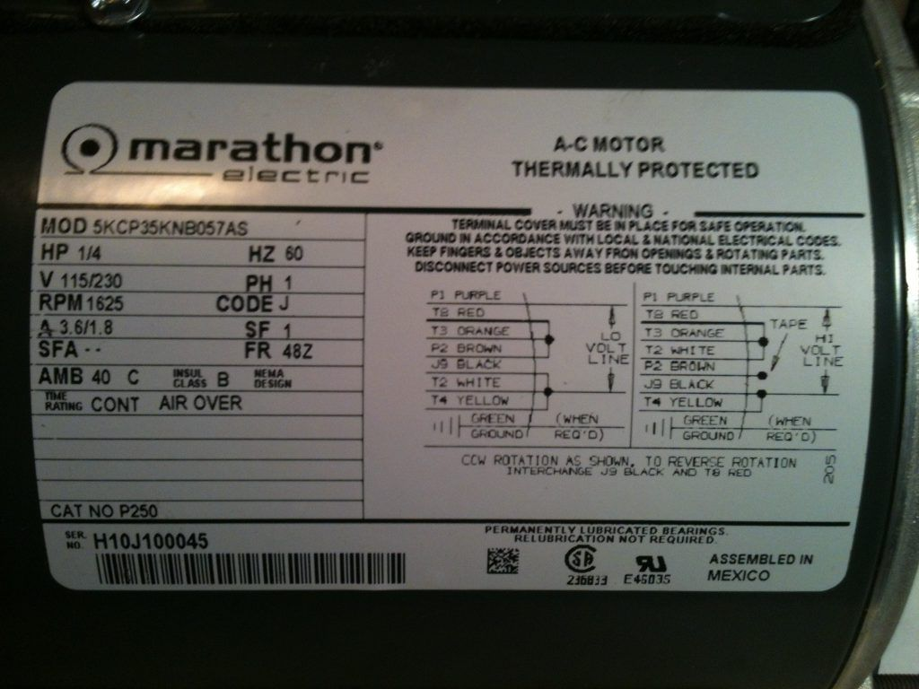 Wiring Diagram Marathon Electric Motor Best New Motors