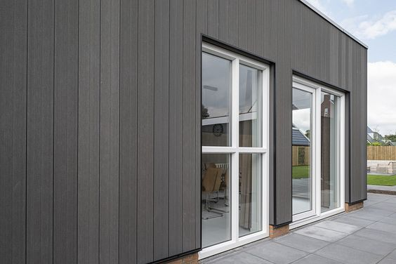 Outdoor House Design Wood Grain Wpc Wall Panel Wood Plastic Composite Wpc Cladding Supplier House Cladding Wall Paneling Cladding