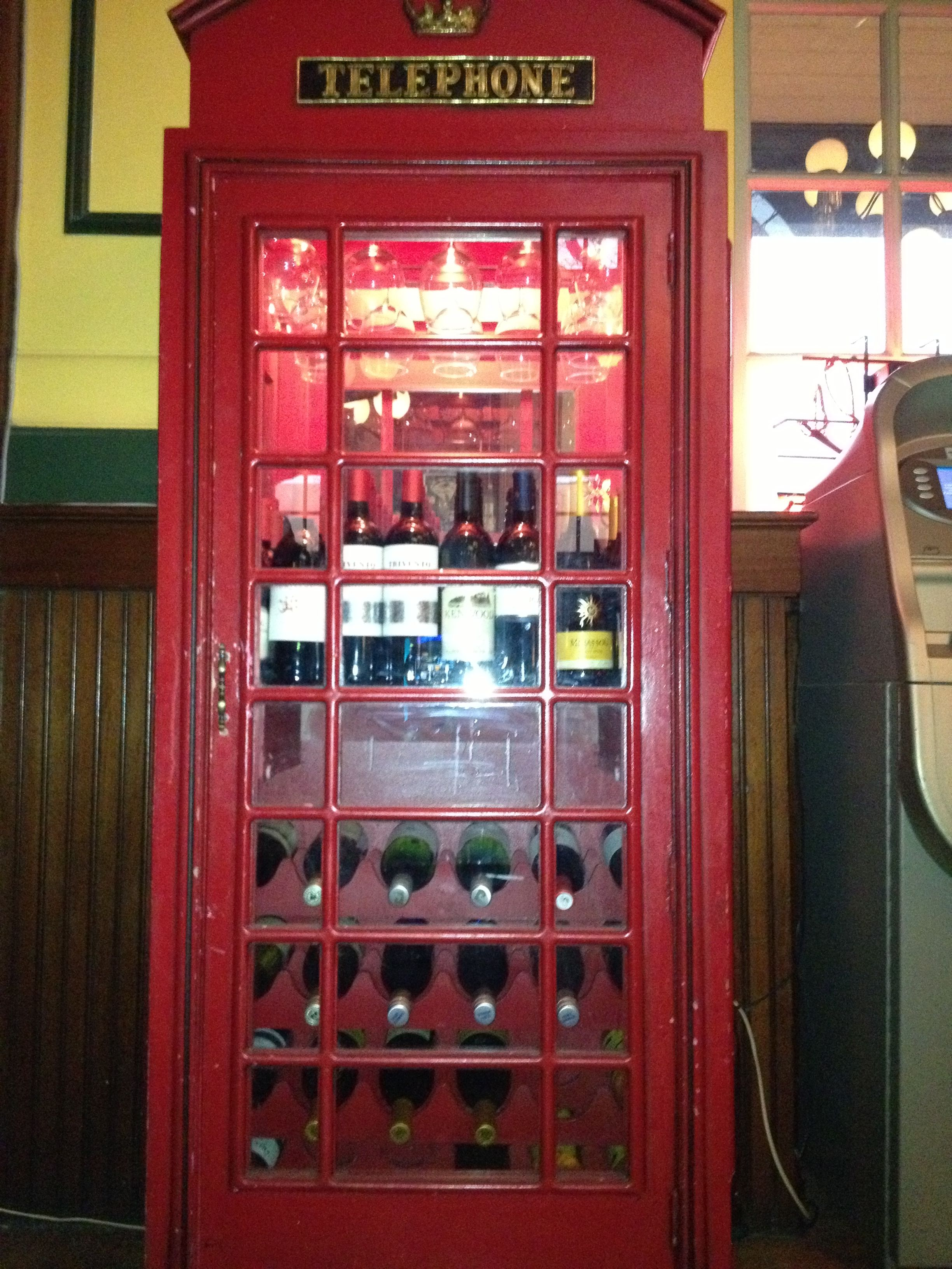 Using An Old Phone Booth As A Wine Cabinet Brilliant