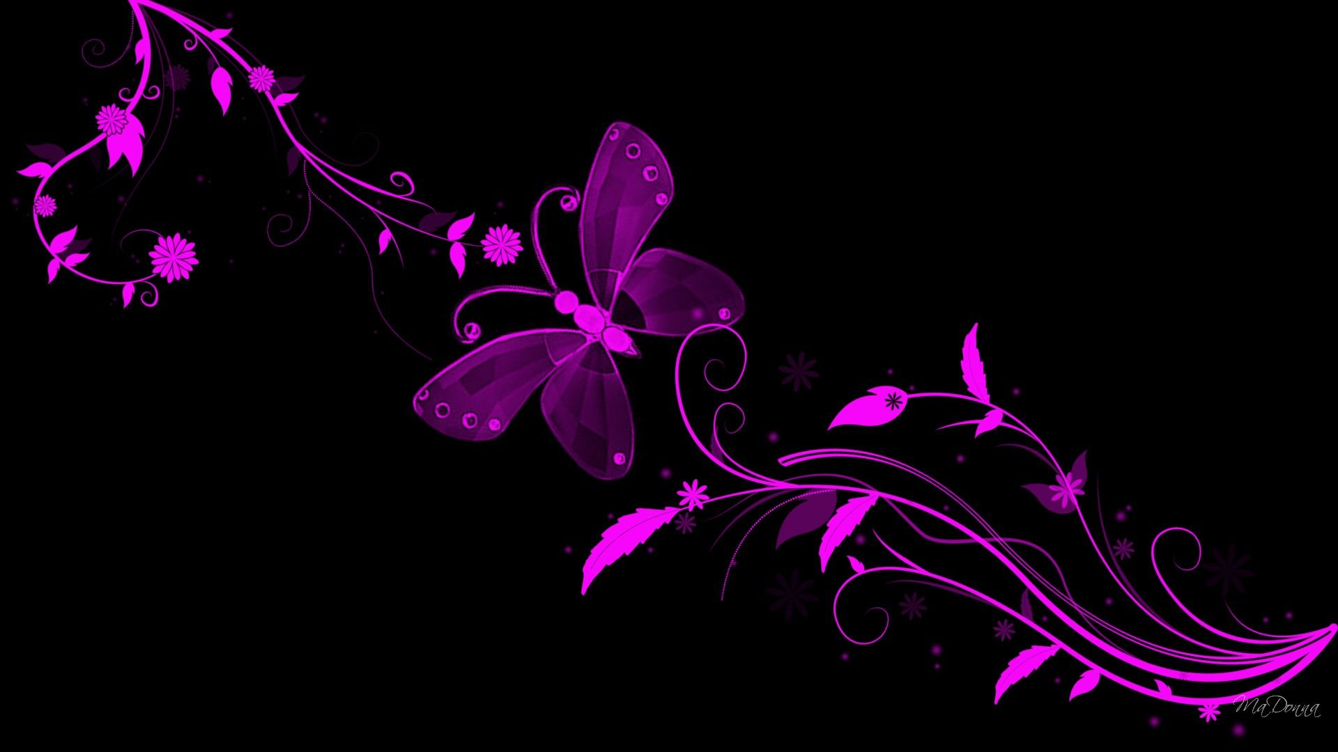 Beautiful Butterfly Wallpaper Beautiful Abstract Flowers And Butterfly Wallpaper 1080p U Black And Purple Wallpaper Butterfly Wallpaper Purple Wallpaper Hd