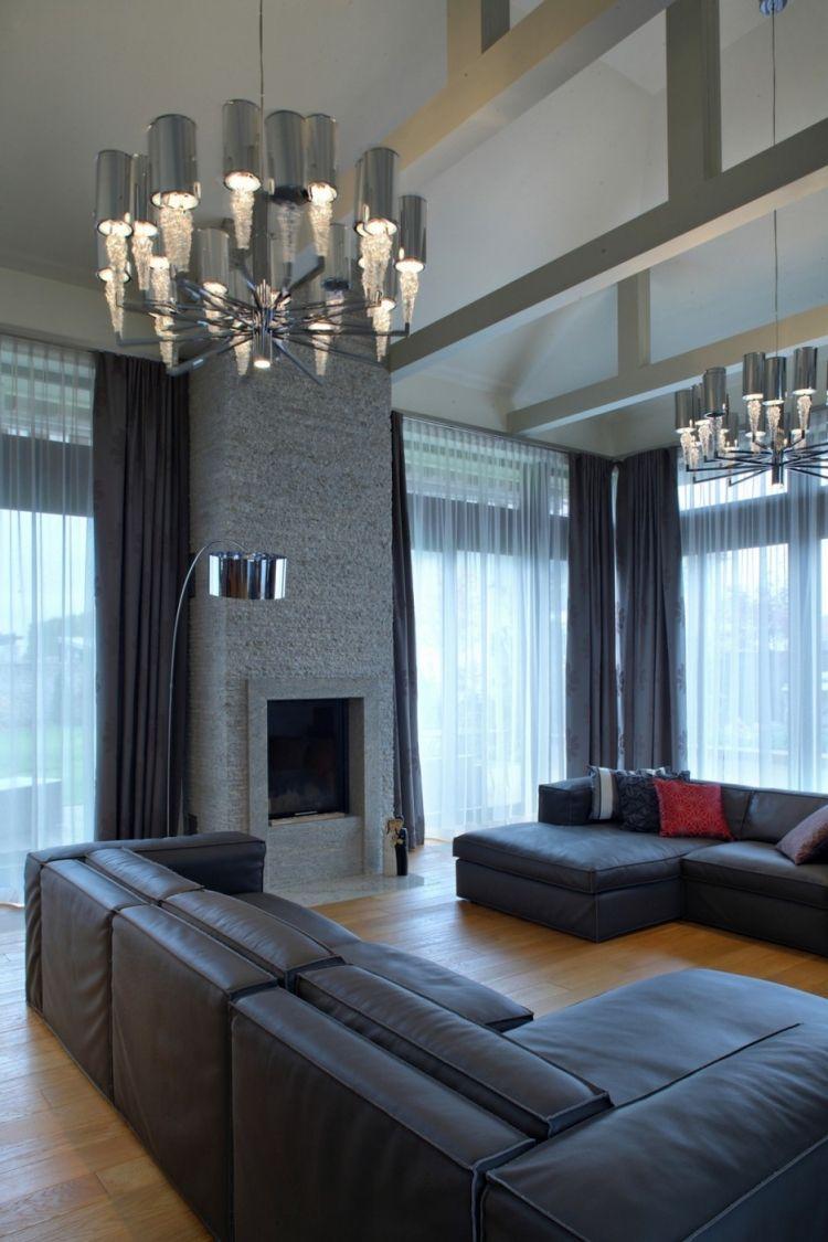 wohnzimmer in grau eckcouch ideen, wohnzimmer in grau mit eckcouch im mittelpunkt – 55 ideen, Design ideen