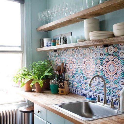 Frentes de cocina con azulejos decorativos azulejos - Azulejos decorativos cocina ...