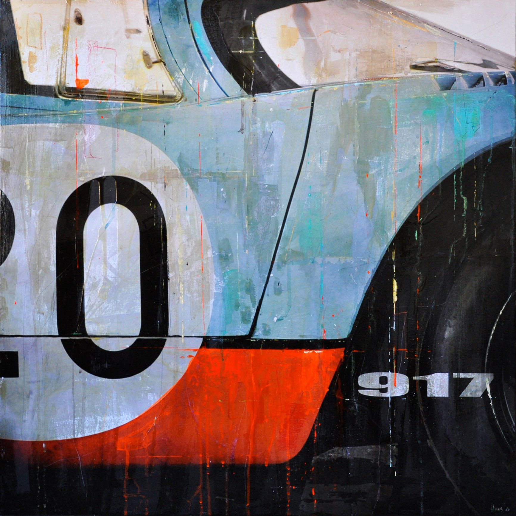 Markus Haub Porsche 917 - Le Mans - ... Edition auf Metall (Dibond) ab 25 x 25 cm ab  49,00 € http://www.artfan.de/haub-markus-porsche-917-le-mans-steve-mcqieen-blau-kunst-kaufen-junge-kunstler.html