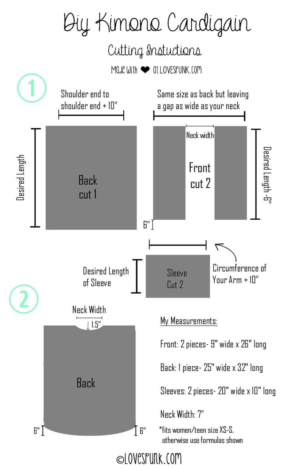 DIY Kimono Cardi Steps 1 & 2 | sewing | Pinterest | Costura, Ropa ...