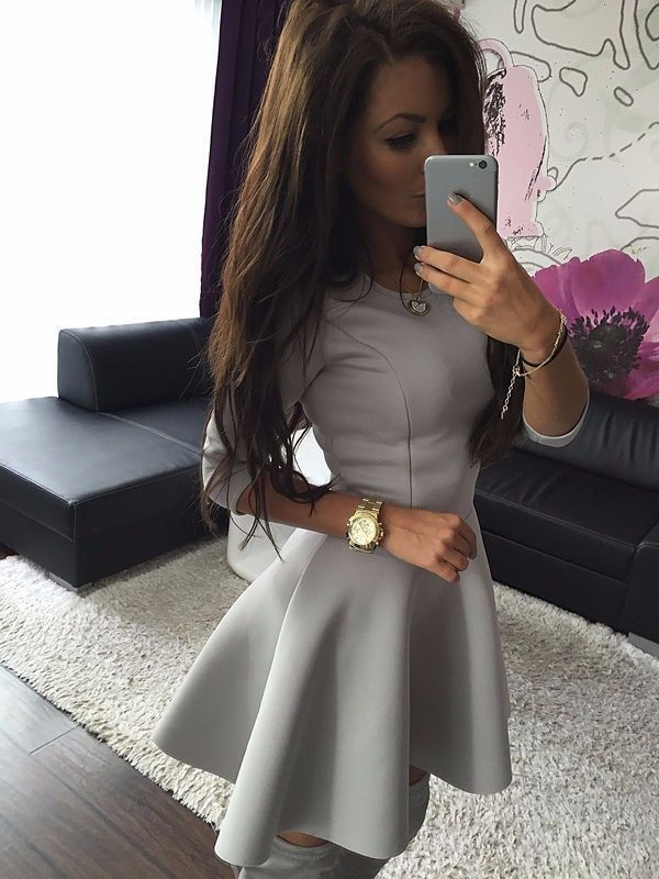 55488a32fa23 Fashion Women s 3 4 Sleeve Sexy Winter Evening Party Bodycon Mini Skater  Dress More. NEW 2015 free shipping ...