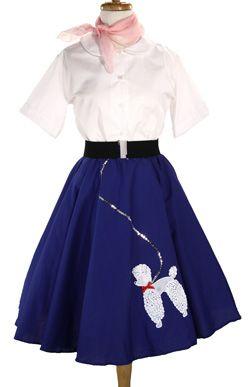 L//XL Hey Viv Retro 50s Sock Hop Circle Skirt S//M Pink Cotton Poodle Skirt