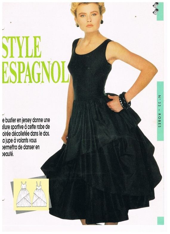 Top 2 patrons : patron robe de soirée style espagnol+patron pantalon  TB69