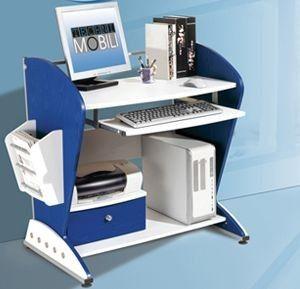 Small Kids Blue And White Computer Desk Small Room Design Kid Desk Home Office Computer Desk