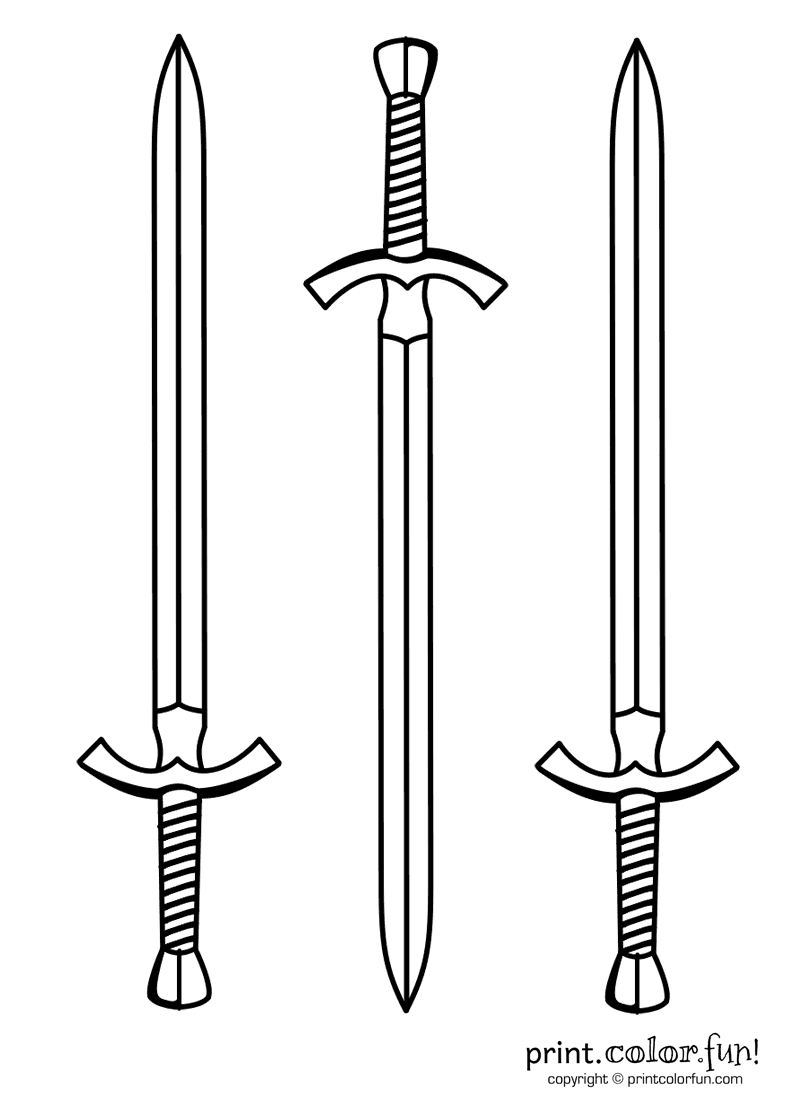 Sword coloring pages  Sword drawing, Coloring pages, Sword