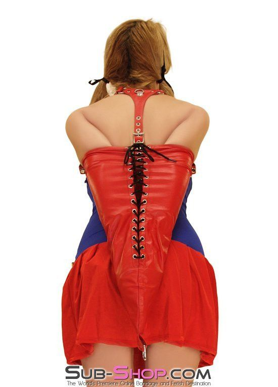 4753M      Gwendolines Passion Red Leather Sweet Gwen Style Lacing Armbinder while being soft and demure.  Just like your bondage slave right?! *wink* http://www.sub-shop.com/collections/plus-size-bondage-gear/products/gwendolines-passion-red-leather-sweet-gwen-style-lacing-armbinder
