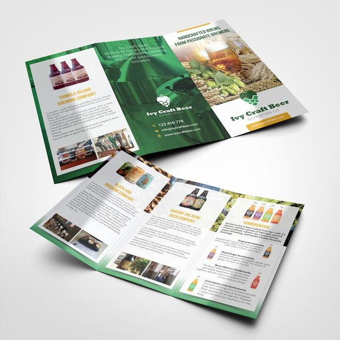 Create a product list brochure for a beer distribution company by - product brochures