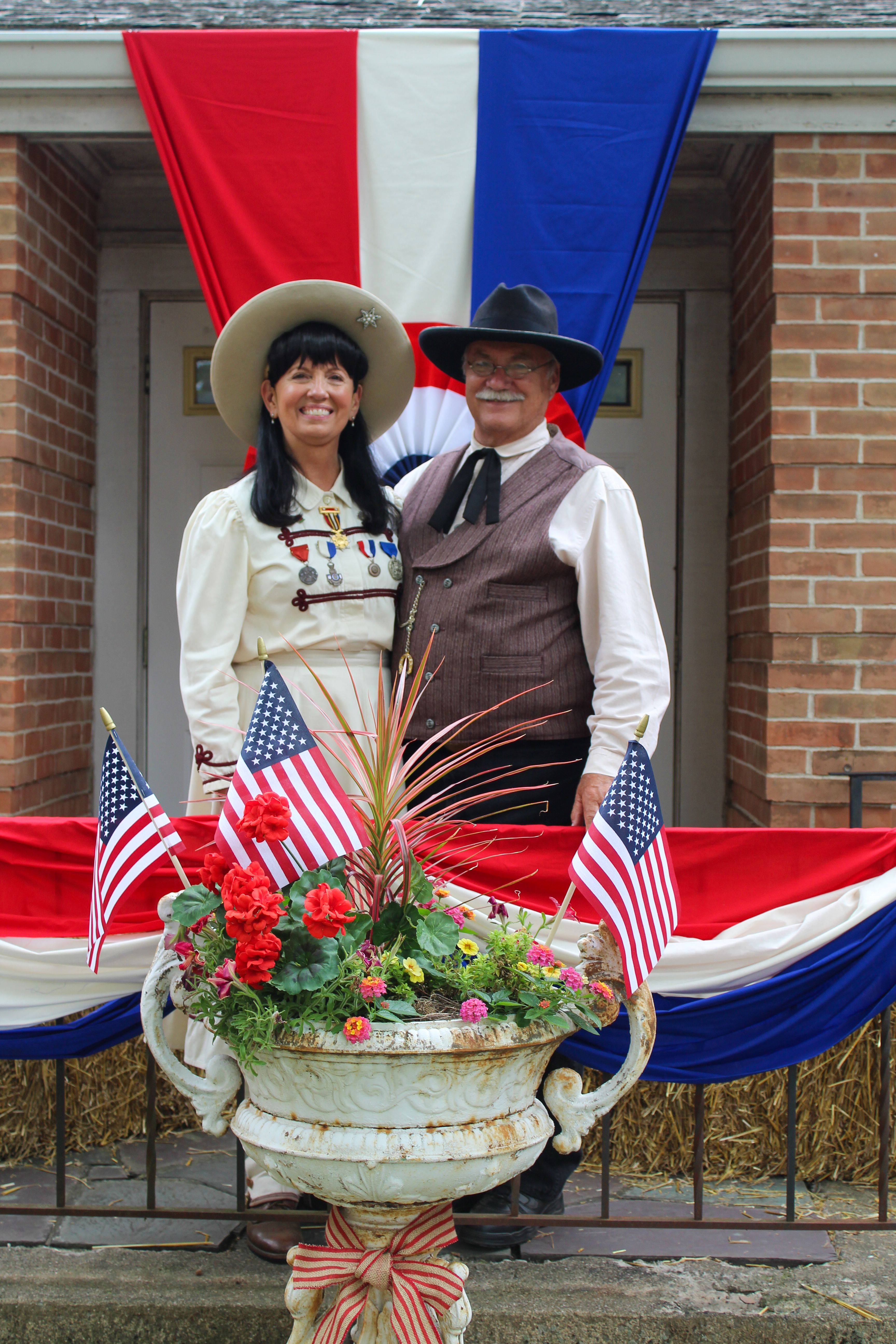 Annie oakley frank butler impersonators at the gathering