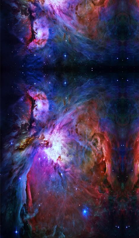 Orion nebula hubble 2006 colours edited fabric i give for Nebula print fabric