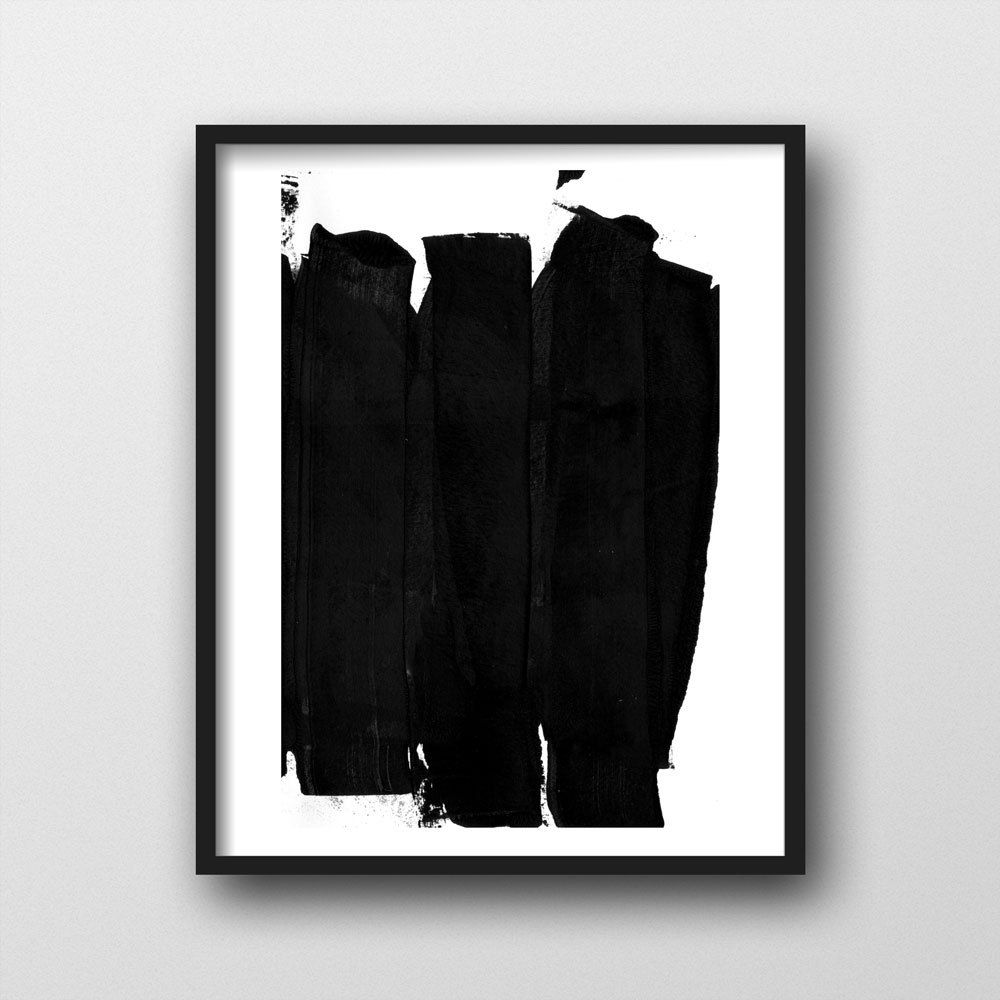 Black White Printable Abstract Poster