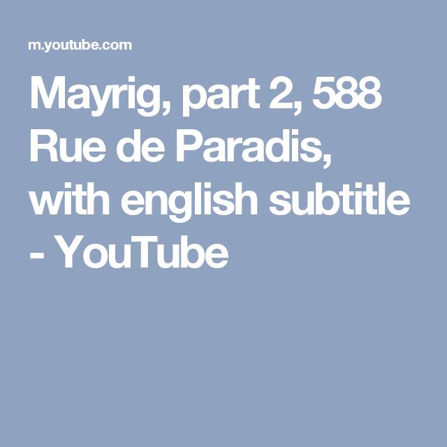 RUE PARADIS 588 TÉLÉCHARGER