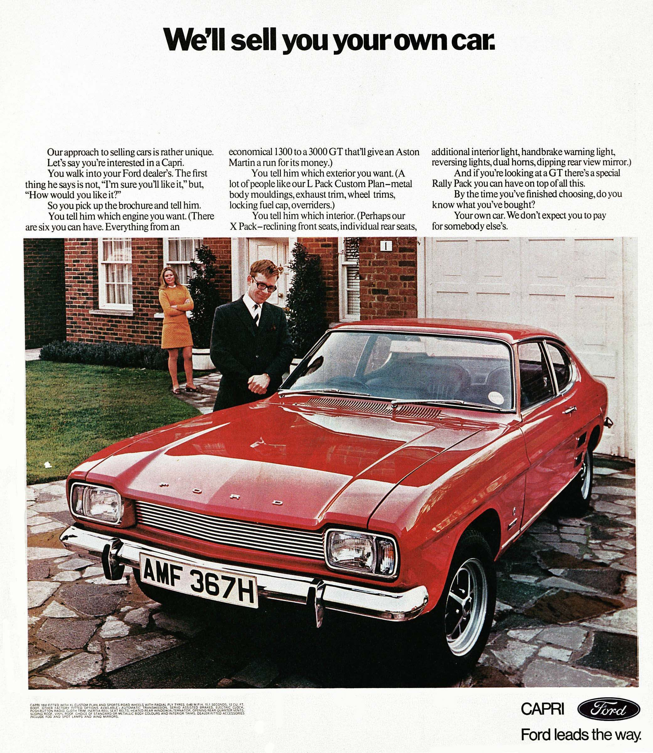 The Car You Always Promised Yourself Ford Capri Ads From 1969